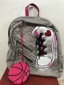 Betsey Johnson Backpack High Tops Sneakers Shoe Removeable Coin Purse BTS