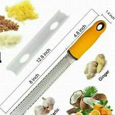 Stainless Steel Cheese Grater Zester Ginger Lemon Shredder Hand Held Flat Tool