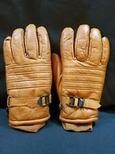 Cabelas Gore-tex Leather Mens Gloves Size XL Tan Adjustable Wrist Thinsulate