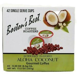 Bostons Best Coffee Pod & Capsule Keurig Aloha Coconut 42 Medium Roast USA
