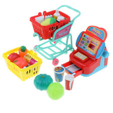 Kids Supermarket Cash Register and Shopping Cart Pretend Toy Birthday Gift