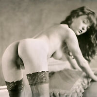 AJ BARNES - Sweet Bottomed NUDE Girl Ltd Edition Fine ART Antique Process Print