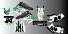 KAWASAKI KXF KX Motocross Kit completo de gráficos-Pegatinas - 22 Motosport inspirado