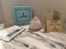 Lladro Retired 1987 Pink And Cream Christmas Bell Still In Original Box