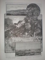 Views of San Rafael valley and Las Animas Canon California 1888 old prints