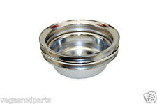 small block ford Chrome Crank shaft Pulley two 2 groove mustang falcon 289 302
