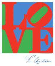 Classic Sky Love by Robert Indiana, 28x30