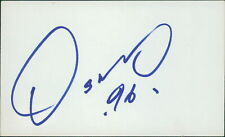 Oscar de la Hoya Boxer Signed 3x5 Index Card JSA Authenticated