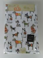 "New HALLOW HOME Halloween 60""x104"" Oblong Tablecloth Dogs in Costumes Beige"