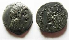 ZURQIEH -as5564- PTOLEMAIC EMPIRE. PTOLEMY V 205-180 BC . AE26 . WITH ISIS