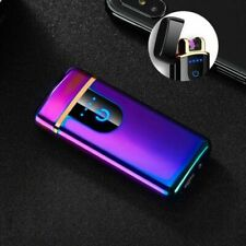 Dual Arc Electric Lighter Plasma Flameless Windproof USB Cigarette Lighter US
