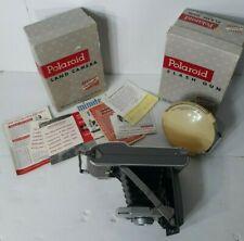 Polaroid Land Camera Model 80 With Flash, Literature, And Original Boxes