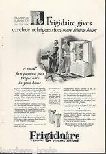1927 FRIGIDAIRE Refrigerator advertisement, electric icebox, woman golfers