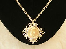FULL SOVEREIGN PENDANT NECKLACE COMPLETE WITH COIN & CHAIN BRAND NEW IN BOX