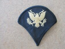 US Army Dress Blue E-4 Rank Military Patch - Sew On- USED AUTHENIC UNIQUE