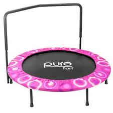 Durable 48 in. Super Jumper Kids Mini Trampoline with Adjustable Padded Handle