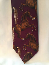 Horse Cranberry Churchill Collection Necktie Tie