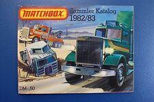 ORIGINAL KATALOG VON MATCHBOX  - DEUTSCHE AUSGABE VON 1982/83 -*****