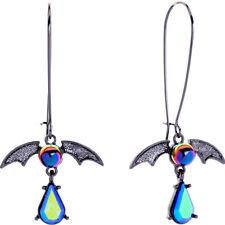 Betsey Johnson blue rhinestone bat Dangle Drop earrings hook Women Fashion jewel