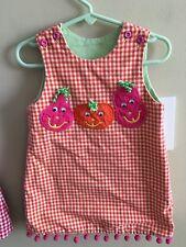 Bailey Boys 2T Reversible Dress Jumper Pumpkins Hearts Fall Valentine Pink Hallo