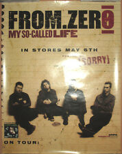 FROM ZERO So-Called Life, Arista promotional poster, 2003, 17x22,EX, alternative