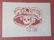 1952 Schablonen Schädel Wandtattoos Airbrush Leinwand Textilgestaltung Stencil