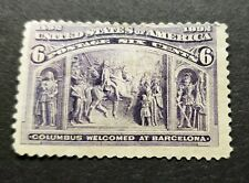 Scott # 235 6cent Colombian Unused; NG
