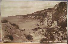 Pc Rppc Beach Sands & White Rocks Portrush Northern Ireland Uk Jv216824 1930s