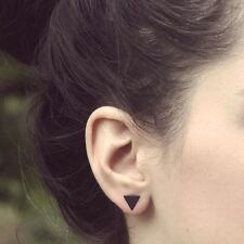 Fashion Womens Black Triangle Ear Stud Geometric Triangle Earrings Jewelry Gift