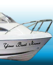2 x Personalised / Custom BOAT NAMES, car, van vinyl stickers /decals 600mm wide