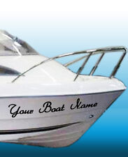 4 x Personalised / Custom boat names, car, van vinyl stickers /boat name decals