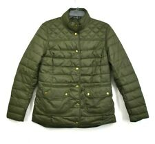 Barbour Womens Coledale Quilted Jacket Slim Fit Front Snap Flap Stand Collar 8