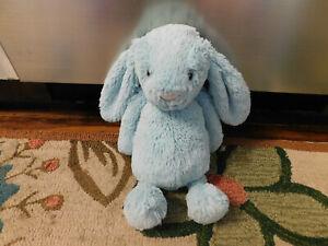 """JELLYCAT BASHFUL BUNNY Aqua Teal Blue Plush Medium Rabbit Toy Doll 12"""" SO CUTE!"""