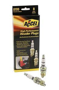 Spark Plug-U-Groove Header Plug Accel 8199 (8 pack of plugs)