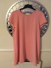 River Island Ladies Peach Shift Dress Size 18