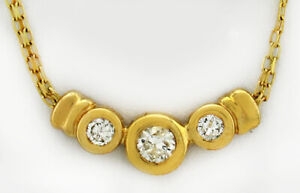 GENUINE 0.40 Cts DIAMONDS NECKLACE 10K YELLOW GOLD *Brand New With Tag *