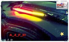 Honda CBR LED Brake Light BAR Integrated Turn Signals Fender Mount Flush Flasher