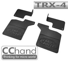 Rear Mud Flaps w/ Land Rover Logo ( Soft Rubber x 2 ) for TRX-4 D110 Defender