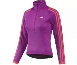 Adidas Response Womens Long Sleeve Half Zip Cycling Jersey,  Medium