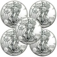 Lot of 5 - 2021 American Eagle Coins 1 oz .999 Fine Silver - IN-STOCK