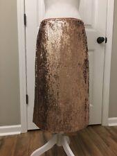 New J Crew Rose-gold Sequin Skirt Sz 6 F9233