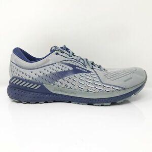 Brooks Mens Adrenaline GTS 21 1103491D006 Gray Blue Running Shoes Size 12 D