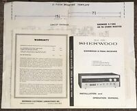 Sherwood S-7100A Stereo Receiver Owners Manual, Wiring Diagram, & Instructions