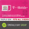 T-MOBILE Triple SIM Card MINI + MICRO + NANO • GSM 4GLTE • NEW Genuine OEM