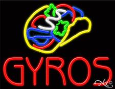 "NEW ""GYROS"" 31x24 LOGO REAL NEON SIGN W/CUSTOM OPTIONS 11291"