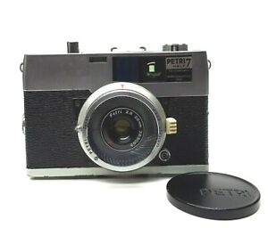 Petri Half 7 ~ Half Frame 35mm Camera Petri F2.8 28mm Lens w/ UV Filter Lens Cap