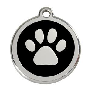 Red Dingo Dog ID Pet Tag Charm FREE Personalized Engraving PAW PRINT
