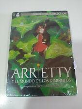 Arrieti Y el Mondo de los Piccoli Studio Ghibli Steelbook DVD nuevo