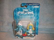 Smurfs Movie Figure 2 Pack Clumsy Smurfette White Dress Jakks Pacific 2013 New
