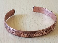 8 LUCKY SYMBOL SOLID COPPER MAGNETIC BANGLE HEALING PAIN RELIEF ARTHRITIS